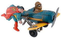 Vintage Superman Tin Windup toy