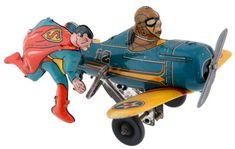 Vintage Superman Tin Windup toy