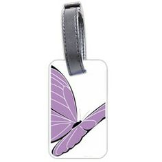 Purple Awareness Butterfly 2 Luggage Tag (One Side) from Fun With Fibro