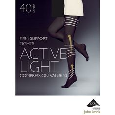 John Lewis 40 Denier Firm Support Active Light Opaque Tights , Black (10 CAD) ❤ liked on Polyvore featuring intimates, hosiery, tights, black, textured tights, glossy stockings, glossy tights, nylon tights and shiny pantyhose