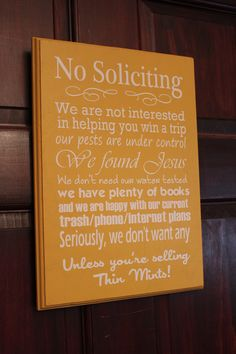 Now that we are in a house, I think we need this. TWO solicitors already!