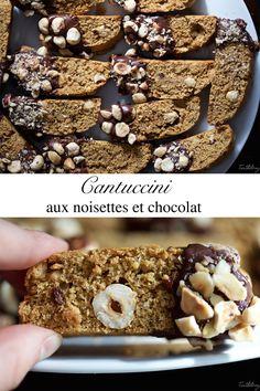 Cantuccini aux noisettes et chocolat