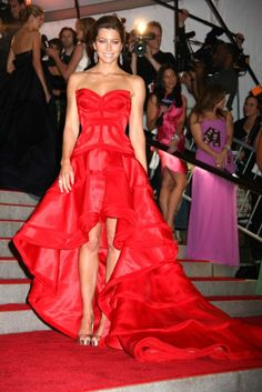 Jessica Biel In Versace at the Costume Met Gala 2009