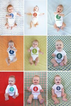 Baby Monthly Photo Project - How To Add The Month To The Onesie Using Photoshop