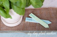 DIY Clay Plant Markers - So cute!