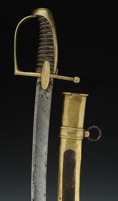 SABRE DE CHASSEUR À CHEVAL OU DE LANCIER DE LA GARDE IMPÉRIALE, SECOND MODÈLE, PREMIER EMPIRE (1810-1815).