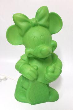 Dekolampe Minnie Mouse in der Farbe Grün der Fa. Heico  Abmessung ca. H=35 cm B=21 cm T=16,5 cm Beleuchtung 230 V 50 Hz E14 max 10 Watt CE Kabel Weiß Neuware, Lieferung ohne Leuchtmittel !