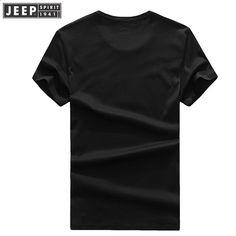 3f1882229 JEEP SPIRIT Nové pánské tričko 2018 Letní kulatý krk Krátký rukáv Dopisní  vzorek Obchodní denní pánské