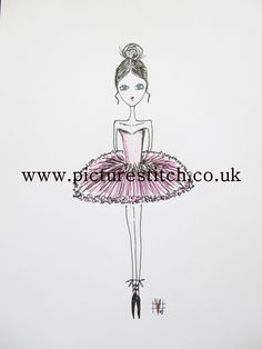 "Embroidery Digital File ""Ballerina Princess"" RESERVE by NicolaElliott on Etsy"