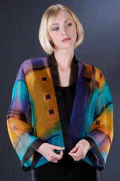 Peggotty Christensen  The colors are intense by yet subtle and bring sophistication to the wearer.