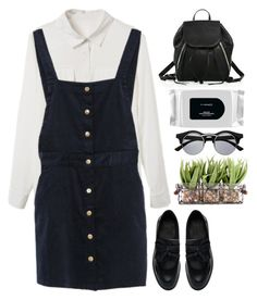 """""""#School Outfit"""" by credentovideos ❤ liked on Polyvore featuring Rebecca Minkoff, Dr. Martens, MAC Cosmetics and Retrò"""