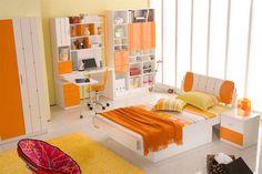 bedroom orange ideas @TheRoyaleIndia