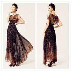 Lovely Black Chiffon Pleated Floor length Fashion Style Prom Dress