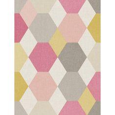 Papier peint vinyle sur intissé à motif graphique avec des couleurs pop dans les tons roses et gris beige de la collection SWING de Caselio