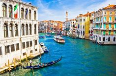 Explore the exquisite culture of Venice, Italy by visiting its most-loved attractions. Take a boat around The Grand Canal, walk around the public square of Piazza San Marco, see the great bridge at. Italy Honeymoon, Italy Vacation, Honeymoon Destinations, Holiday Destinations, Vacation Spots, Italy Travel, Venice Travel, Vacation Packages, Vacation Deals