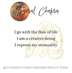 #chakras #affirmation #sacralchakra Sacral Chakra, Chakras, Chakra Affirmations, Intuition, My Life, Self, Mindfulness, How To Plan, Chakra