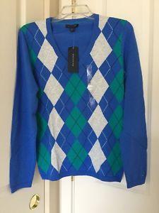 Image result for tommy hilfiger blue womens argyle sweater
