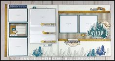 Enjoy the Flip Flap magic in this masculine set of layouts! With tons of room for photos you will be sure to capture all of those specia. Scrapbook Sketches, Scrapbooking Layouts, Scrapbook Paper Crafts, Scrapbook Cards, Urban Workshop, Adobe Illustrator, Logos Retro, Heart Projects, Vacation Scrapbook