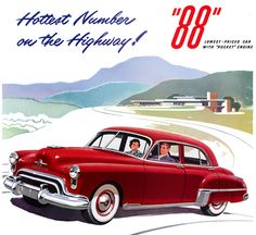 Plan59 :: Classic Car Art :: 1949 Olds 88