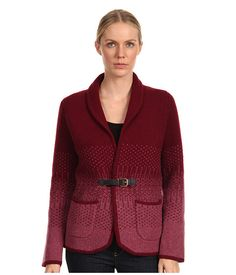 Paul Smith Paul Smith  Intarsia Cardigan BurgundyPink Womens Sweater for 190.99 at Im in!