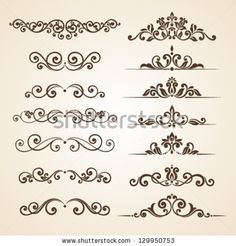 Rangoli Borders, Rangoli Border Designs, Rangoli Designs, Stencil Patterns, Stencil Designs, Ornaments Design, Vintage Ornaments, Graffiti Lettering, Hand Lettering