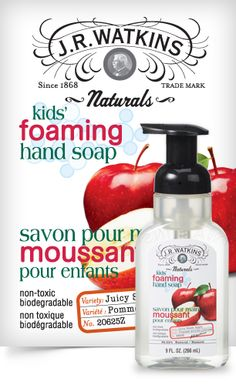 Foaming Hand Soap - All Watkins foaming hand soaps are formulated with natural ingredients and essential oils. The hard-working foams are mild and pure, and will leave hands feeling soft and moisturized, even after repeated...