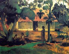 Paul Gauguin - Post Impressionism - Tahiti - Le grand arbre - 1891