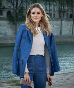 Olivia Palermo Steps Out in Double Denim