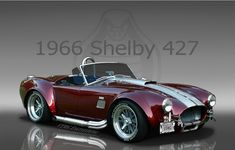 1966 Shelby Cobra 427  No Top, low ride, note of a V8, Cool. http://learnautomotiveknowledgeonline.com/