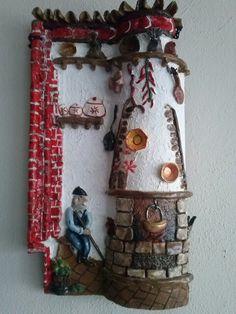 teja decorada en.relieve from.my hands