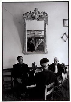 "Men in a cafe. ""A Greek Portfolio"" © Costa Manos Magnum Photos Magnum Photos, Greece Pictures, Old Greek, Karpathos, Greece Photography, Greek House, Photographer Portfolio, Greece Islands, Cool Cafe"