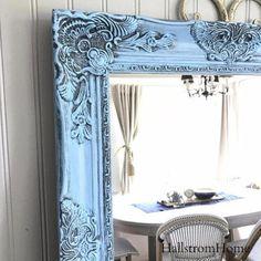 Blue Shabby Chic Mirror