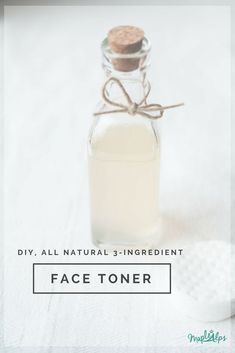 How to make DIY facial toner with witch hazel and aloe veraMake your own DIY facial toner with witch hazel for a fantastic and easy homemade skin care solution! This easy-to-manufacture toner is used to Toner Facial, Toner For Face, Facial Care, Homemade Face Toner, Natural Face Toner, All Natural Skin Care, Homemade Facials, Beauty Care, Beauty Skin