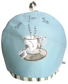 Keep your #teapot nice and warm with this pretty hand #embroidered #tea cosy