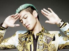Big Bang T.O.P. Turquoise Medium Slicked Back