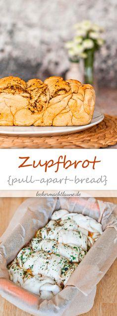 Perrfekt für eine Party oder als Grillbeilage: Zupfbrot (auch pulla-apart-bread genannt). Variabel belegbar lässt es sich super an den eigenen Geschmack anpassen.