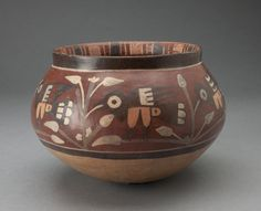 Nazca South coast, Peru  Bowl Depicting Birds in an Agricultural Field, 180 B.C./A.D. 500