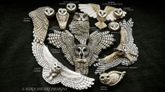 I must own all of these owls by Laura Mears! I just need 3 more....