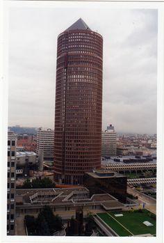 Lyon City, Tour, Skyscraper, Europe, France, Building, Vintage, City, Skyscrapers