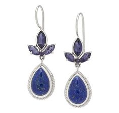Himalayan Gems Sterling Silver Gemstone Drop Earrings