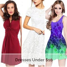 These beautiful dresses come in a wide variety of colors, lengths, and styles. I found dresses that would look great to wear for on any occasion.