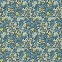 Morris Morris Seaweed Ink / Woad Wallpaper main image
