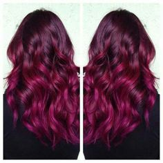 raspberry hair color. Love it!