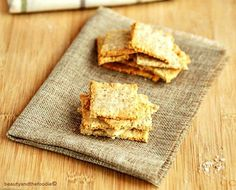 Sesame Cheese Crackers Low Carb are grain free, keto, primal, gluten free and super tasty. This recipe also includes video instructions.