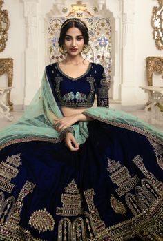 Blue Lehenga, Lehenga Blouse, Lehenga Choli, Sari, Sabyasachi, Latest Bridal Lehenga, Designer Bridal Lehenga, Indian Bridal Photos, Indian Bridal Fashion