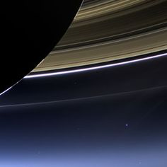 On July 19th, @CassiniSaturn took a picture of Earth -- that pale blue dot. Read Carl Sagan's words on a similar photo: http://www.goodreads.com/work/quotes/1816628-pale-blue-dot-a-vision-of-the-human-future-in-space