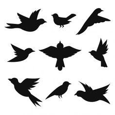 Bird Silhouette Free Stencils Ideas For 2019 Flying Bird Silhouette, Animal Silhouette, Bird Template, Bird Stencil, Wall Painting Decor, Free Stencils, Bird Drawings, Flying Bird Drawing, Flying Birds
