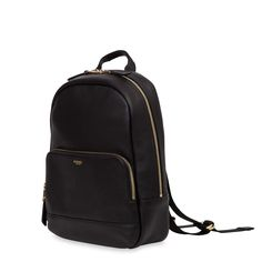 Mini Mount Women's Leather Backpack - Black | KNOMO