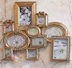 old gold/copper painted frames