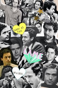 Ted bundy collage from Tumblr